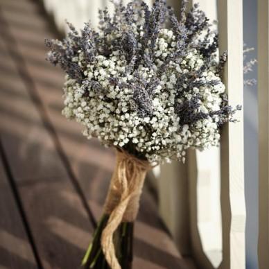Cipso Çiçekli Gelin Buketi