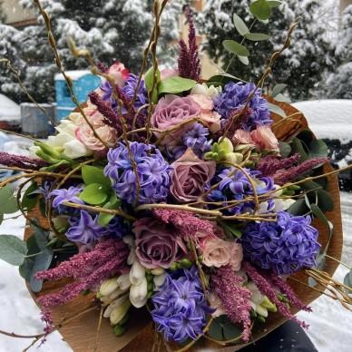 Purple Hyacinth Buket